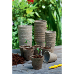 96 Pots Ronds Biodégradables diam.6 cm