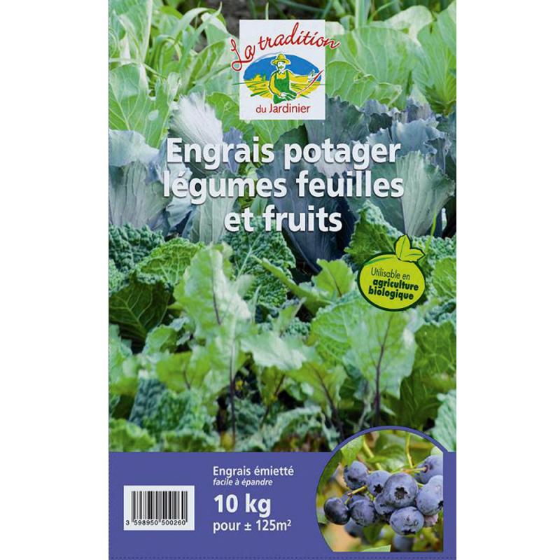 Engrais potager légumes feuilles & fruits 10kg