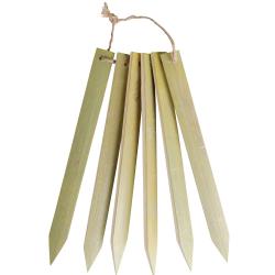 Lot de 6 étiquettes Bambou