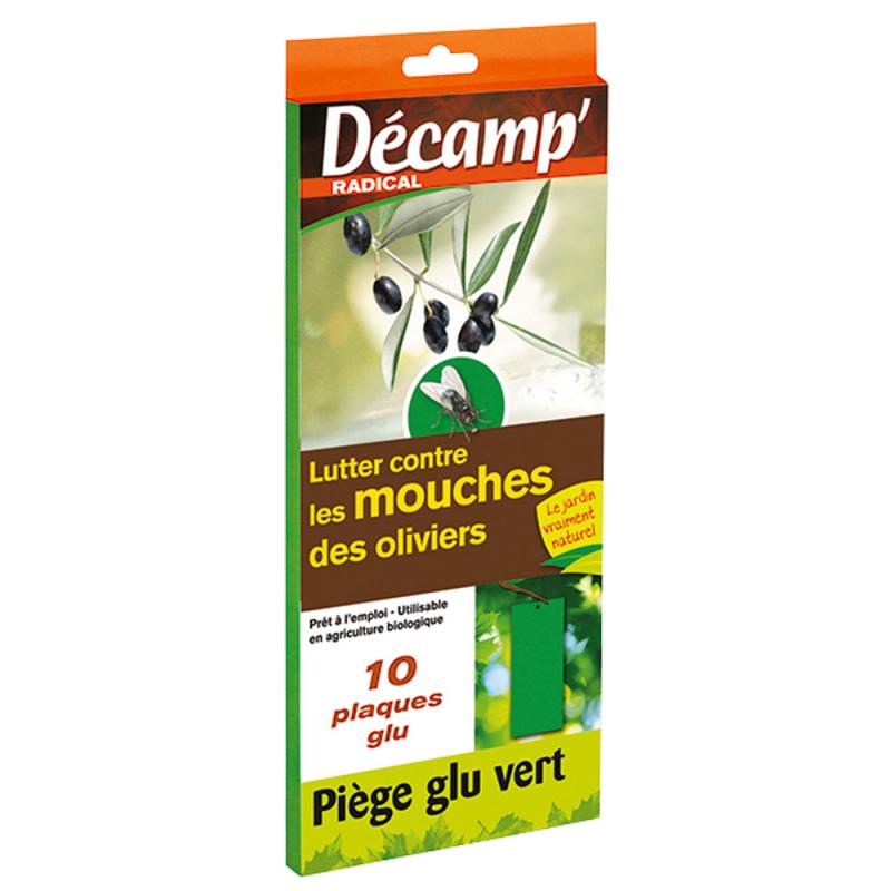 10 pièges vert contre mouches oliviers