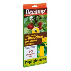 10 pièges jaune contre mouches des fruits