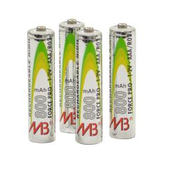 4 piles LR3 rechargeables