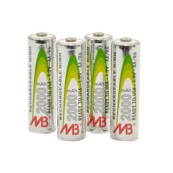 4 piles LR6 rechargeables
