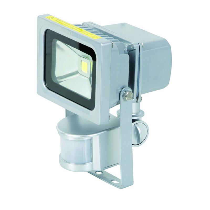 Projecteur LED aluminium 10W + détecteur mvt