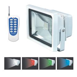 Projecteur LEDs Couleurs Télécommandé