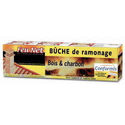 Bûche de Ramonage + Certificat de Garantie