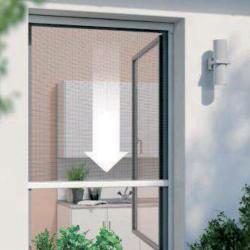 Moustiquaire Enrouleur Fenêtre PVC 130x160cm