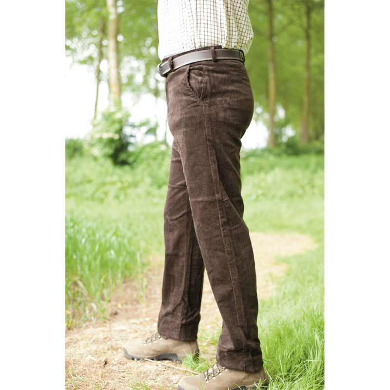 Pantalon Velours Extensible Marron