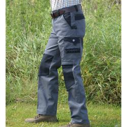Pantalon de Travail Bicolore gris/noir