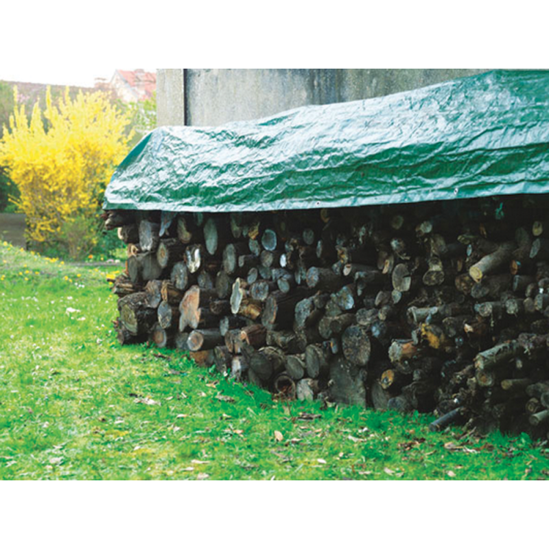 Bâche Imperméable Spécial Bois 1,6x6 m