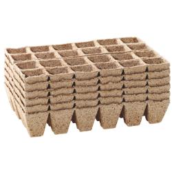 144 Pots Biodégradables Carrés 5 cm