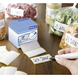 500 étiquettes autocollantes blanches