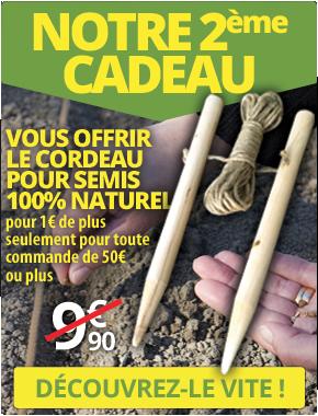 Le Cordeau pour semis pour 1€ de plus seulement pour toute commande de plus de 50€ passée sur le site