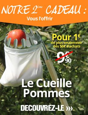 Le cueille pommes pour 1€ de plus seulement pour toute commande de plus de 50€ passée sur le site